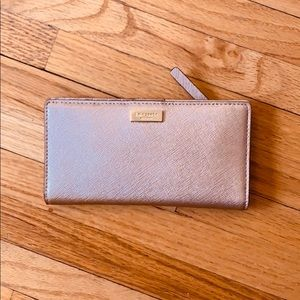 Kate Spade Rose Gold Wallet (Unused)